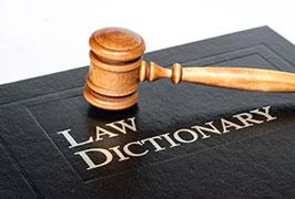 دیکشنری اصطلاحات حقوقی